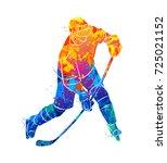 hockey player illustration | Shutterstock .eps vector #725021152