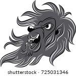 lion head line in vector   Shutterstock .eps vector #725031346