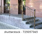 decorative  railing  of the... | Shutterstock . vector #725057365