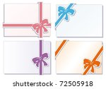 collection of  bows with... | Shutterstock .eps vector #72505918