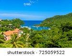 marigot bay  saint lucia ... | Shutterstock . vector #725059522