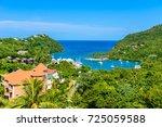 marigot bay  saint lucia ... | Shutterstock . vector #725059588