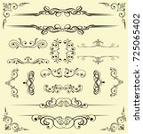 set of decorative elements for... | Shutterstock .eps vector #725065402
