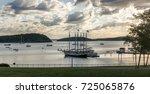 a landscape view of bar harbor... | Shutterstock . vector #725065876