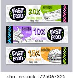 fastfood colorful modern... | Shutterstock .eps vector #725067325
