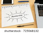 membership   handwritten text... | Shutterstock . vector #725068132