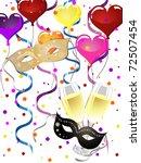 venetian party   vector   Shutterstock .eps vector #72507454
