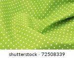 Green Polka Dot Fabric In Full...