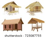 straw roof hut vector design | Shutterstock .eps vector #725087755