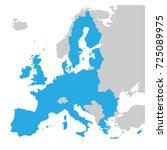 european union territory blue... | Shutterstock .eps vector #725089975