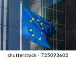 flag of the european union... | Shutterstock . vector #725093602