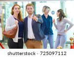group of friends in club | Shutterstock . vector #725097112