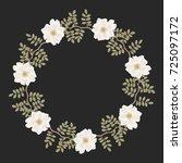 elegant round floral border... | Shutterstock .eps vector #725097172