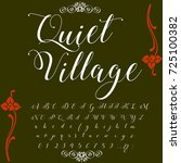 vector set of handwritten abc... | Shutterstock .eps vector #725100382