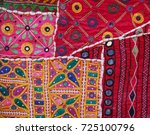section of an intricately... | Shutterstock . vector #725100796