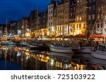 honfleur  france   august 23 ... | Shutterstock . vector #725103922