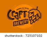 craft brewery logo with a beer... | Shutterstock .eps vector #725107102