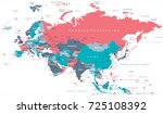 eurasia europa russia china... | Shutterstock .eps vector #725108392