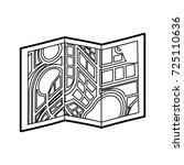 city map on folded paper...   Shutterstock .eps vector #725110636