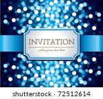 Amazing  Invitation On Blue...
