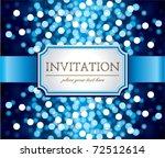 Amazing  Invitation On Blue...