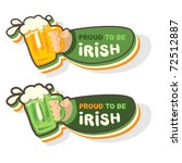Irish beer icon - stock vector