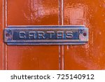 old letterbox in the door ... | Shutterstock . vector #725140912