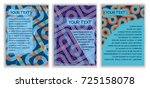 set of abstract  geometric ... | Shutterstock .eps vector #725158078
