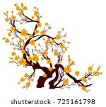 vector cherry blossom for... | Shutterstock .eps vector #725161798