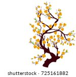 vector cherry blossom for... | Shutterstock .eps vector #725161882
