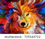 dog paint series. background... | Shutterstock . vector #725163712