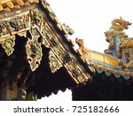 chinese ceiling bat decoration... | Shutterstock . vector #725182666