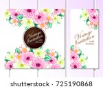 vintage delicate invitation... | Shutterstock .eps vector #725190868