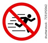 no running vector sign | Shutterstock .eps vector #725192062