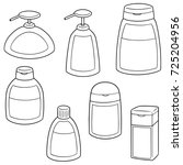 vector set of shampoo and... | Shutterstock .eps vector #725204956