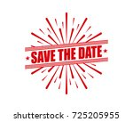 save the date | Shutterstock .eps vector #725205955