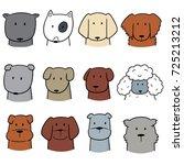 vector set of dog | Shutterstock .eps vector #725213212