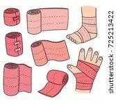 vector set of medical bandage | Shutterstock .eps vector #725213422