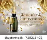 merry christmas and happy new... | Shutterstock .eps vector #725215402