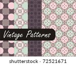 luxury vintage patterns   Shutterstock .eps vector #72521671