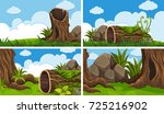 scenes with wood and field... | Shutterstock .eps vector #725216902