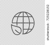 earth with leaf vector icon eps ... | Shutterstock .eps vector #725228152