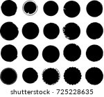 grunge post stamps collection ... | Shutterstock .eps vector #725228635