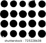 grunge post stamps collection ... | Shutterstock .eps vector #725228638