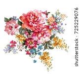 graceful flowers  the leaves...   Shutterstock . vector #725229076