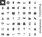 party vector icons set  modern... | Shutterstock .eps vector #725229916