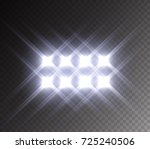stadium glowing light. white... | Shutterstock .eps vector #725240506