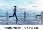 side view of fitness woman... | Shutterstock . vector #725241538