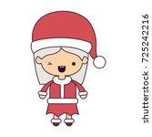 santa claus woman cartoon full... | Shutterstock .eps vector #725242216