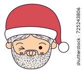 santa claus man kawaii face...   Shutterstock .eps vector #725243806